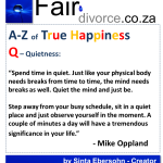 True Happiness Alphabet Q