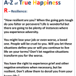 True Happiness Alphabet R