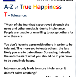 True Happiness Alphabet T