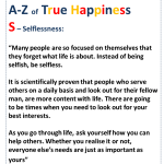 True Happiness Alphabet S